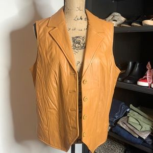 Coldwater Creek Leather Vest, size Large